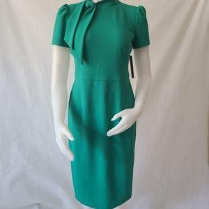 Maggy London Emrald tie neck bow cap sleeve dress